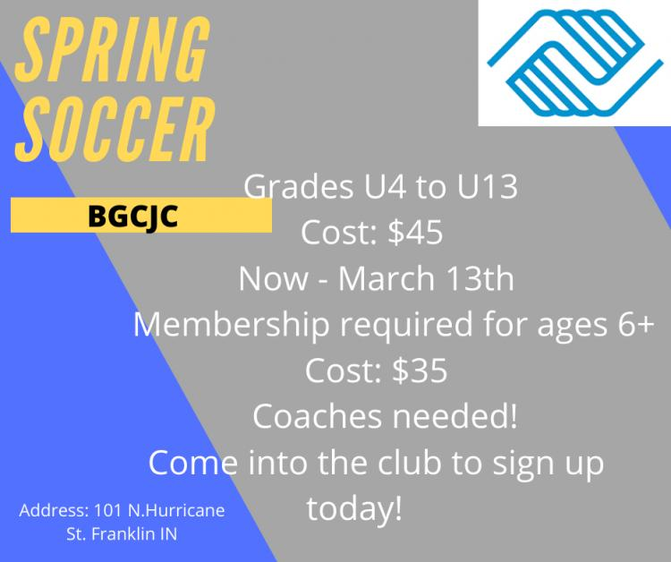 Registration Open for Spring Soccer