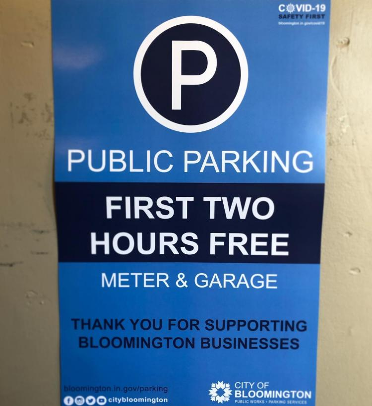 Two Hours Free Parking Downtown