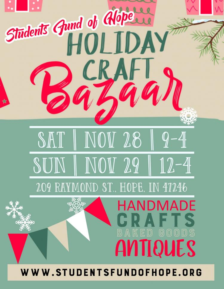 SFOH Holiday Craft Bazaar