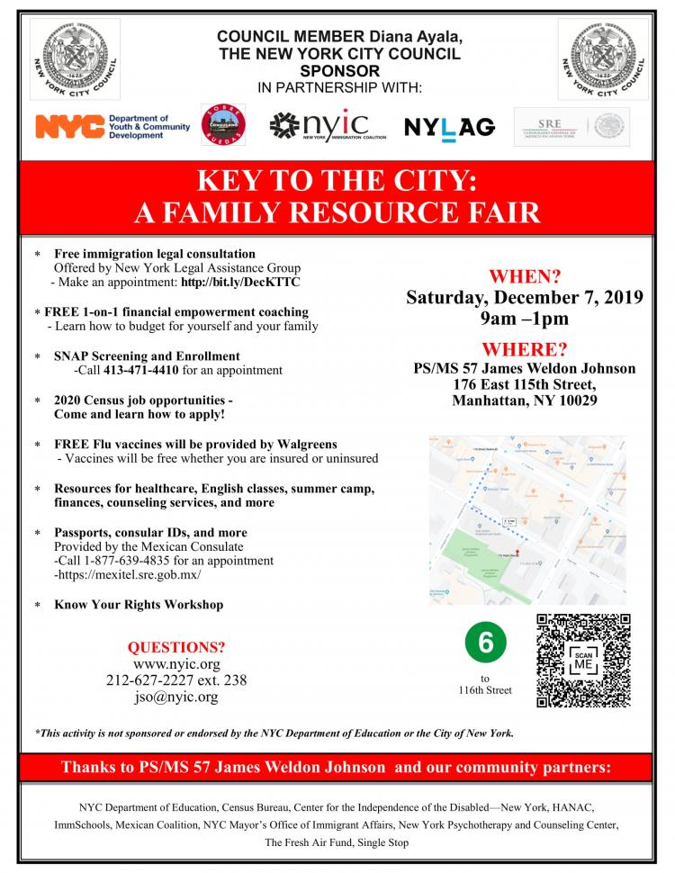 NYIC Key to the City: Family Resource Fair