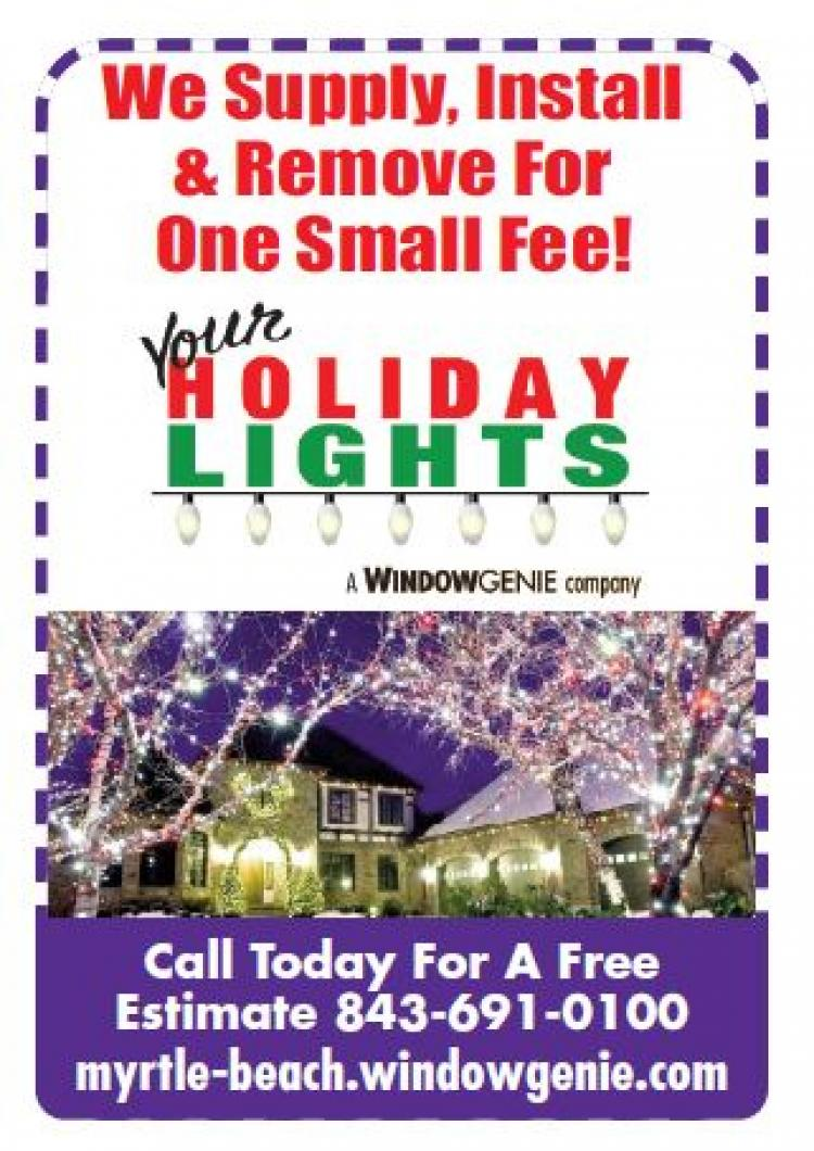 Window Genie taking reservations to Supply, Install & Remove Christmas Lights