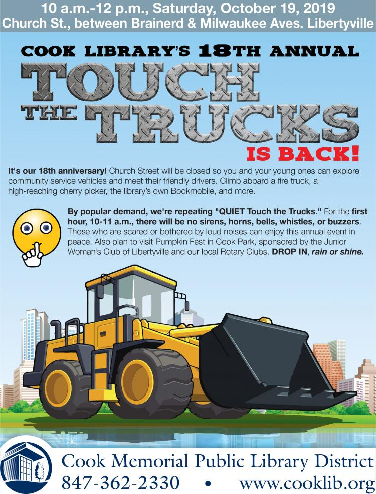 Cook Library's 18TH Annual Touch the Trucks is Back!