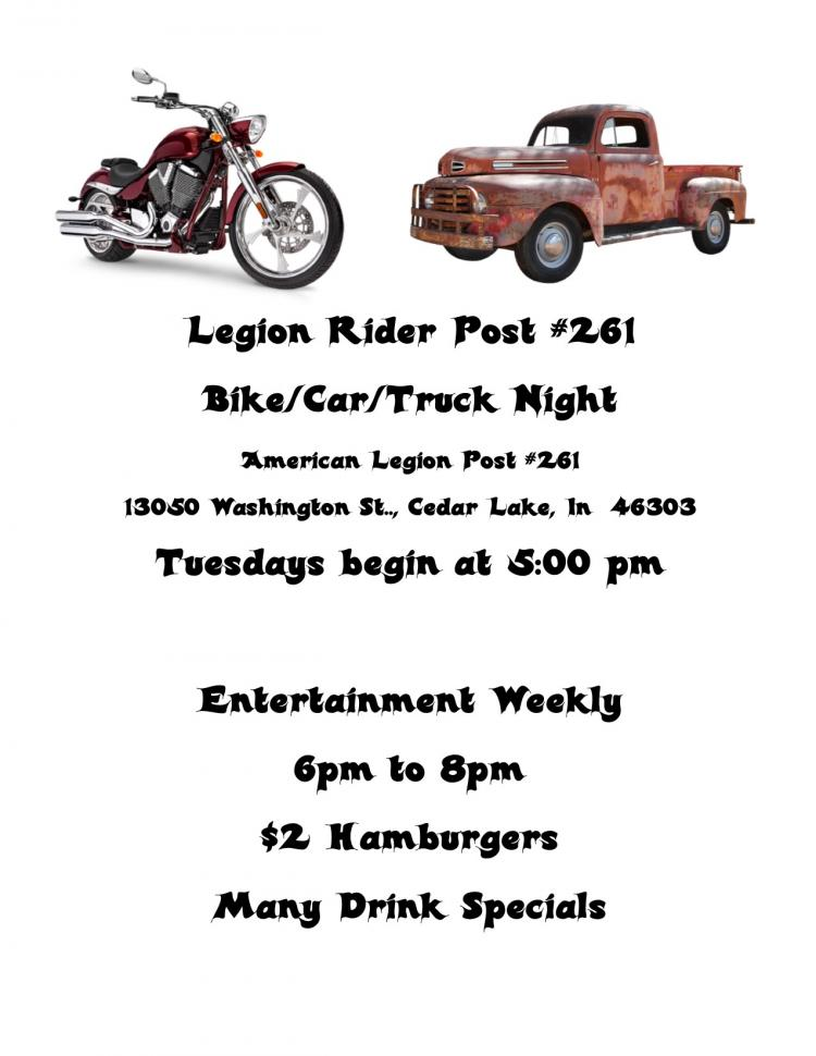 Legion Rider Post #261 Bike/Car/Truck Night