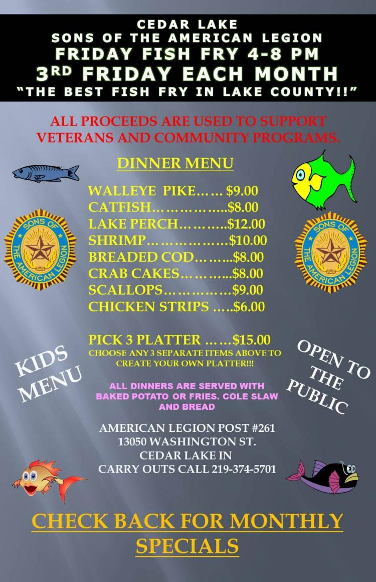 SAL Monthly Fish Fry