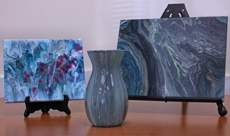 Acrylic Paint Vase & Canvas Pour, The Co-o-