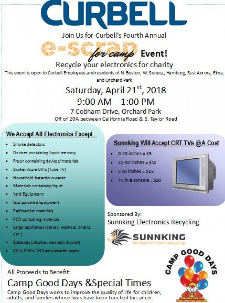 Curbell's E-Scrap for Camp Event