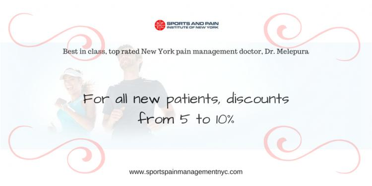 Discount for new patients from Sports Injury & Pain Management Clinic of NY