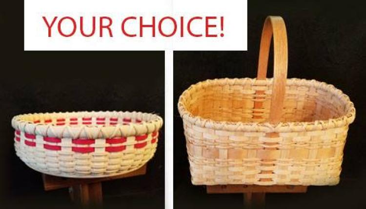 Basket Weaving (your choice) Round Tray OR Market Basket
