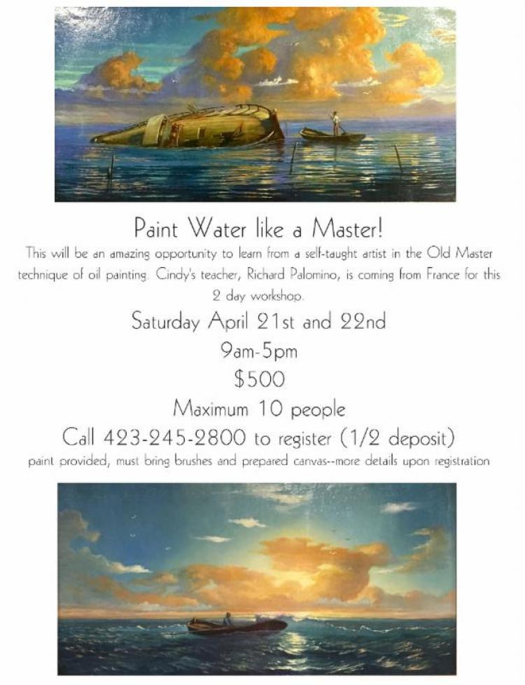 Paint Water like a Master! Workshop - Cindy Saadeh Fine Art