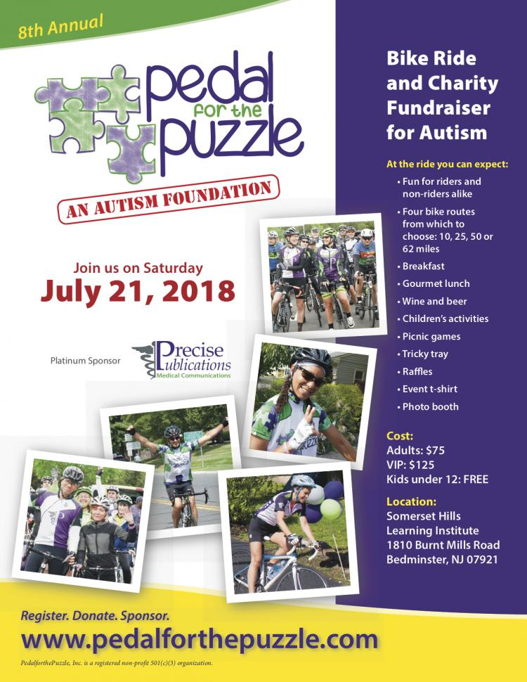 Pedal for the Puzzle 8th Annual Bike Ride and Charity Fund Raiser for Autism