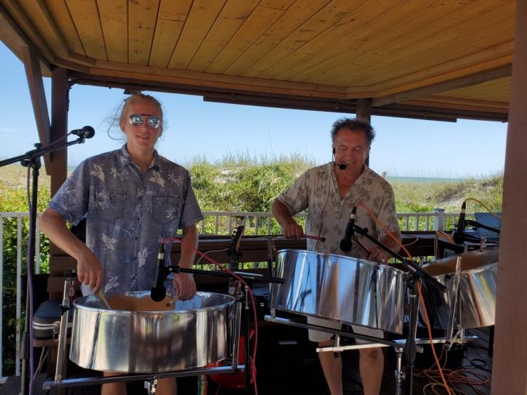 Steel Drum Band on the Beach!