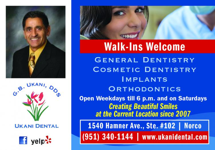 Ukani Dental - Walk-Ins Welcome