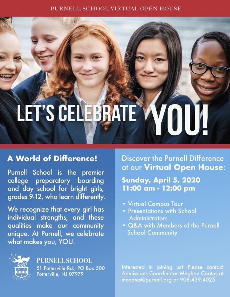 Purnell School Virtual Spring Open House