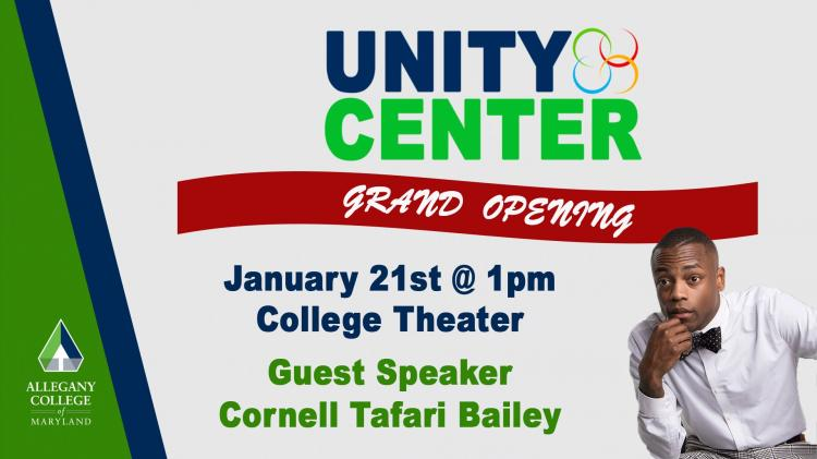 Allegany College of Maryland Unity Center Grand Opening