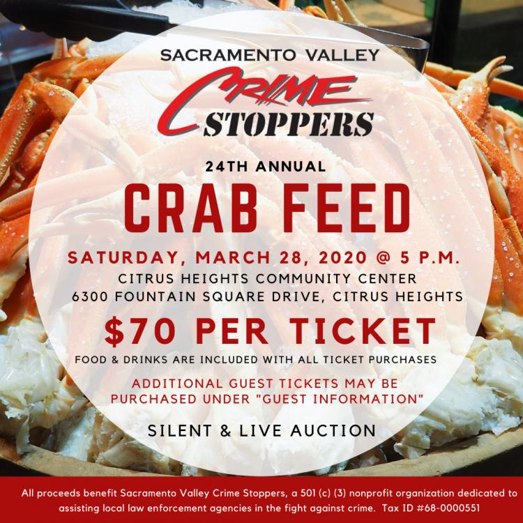 24th Annual Crab Feed - Sacramento Valley Crime Stoppers