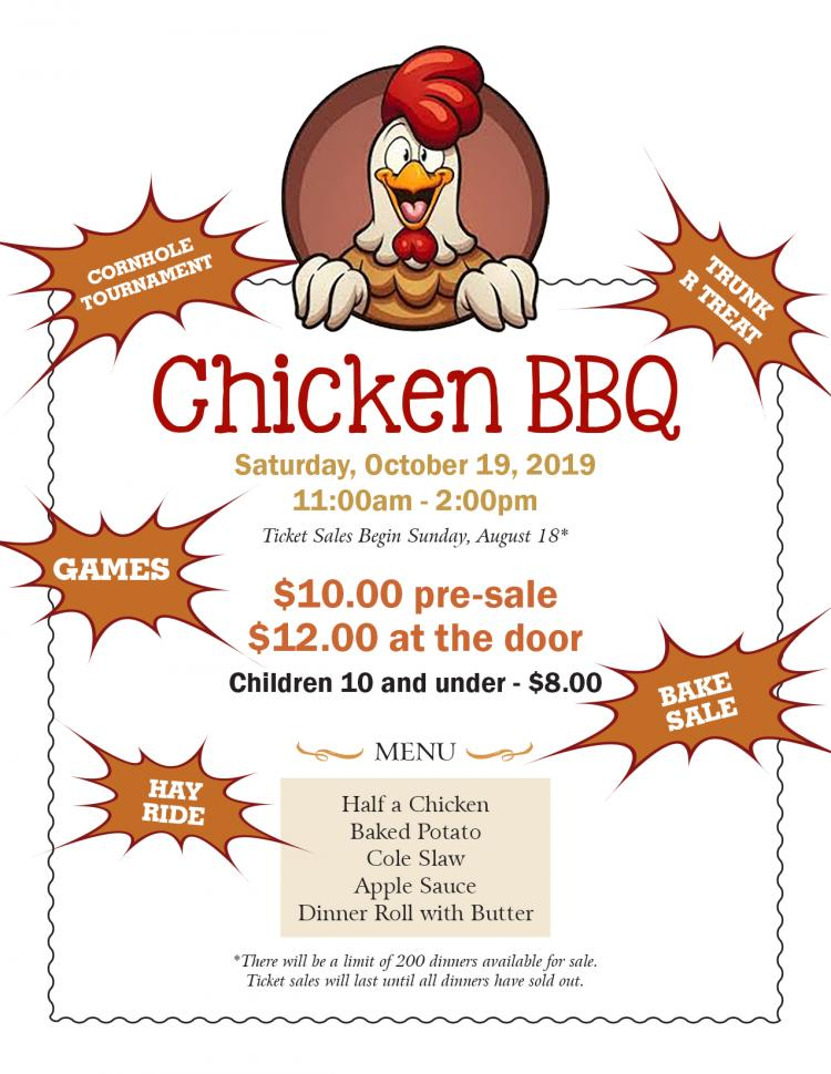 Fall Fest/Chicken BBQ, Oct 19