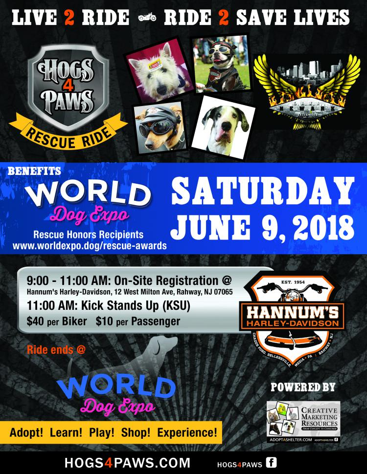 1st Annual Hogs 4 Paws World Dog Expo Rescue Ride