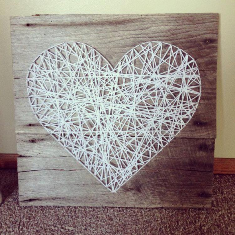 Adult Crafts: String Art (Lake Bluff Public Library)