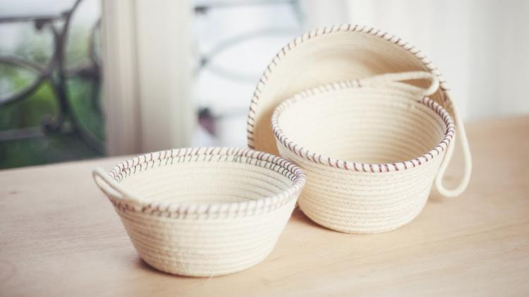 Winter Adult Crafts: DIY Rope Basket Planters (Lake Bluff Public Library)