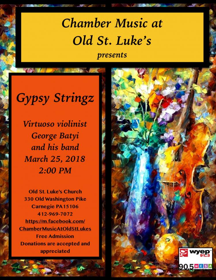 Chamber Music at Old St. Luke's presents Gypsy Stringz