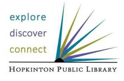 Scavenger Hunt (Ages 6-12) - Hopkinton Library