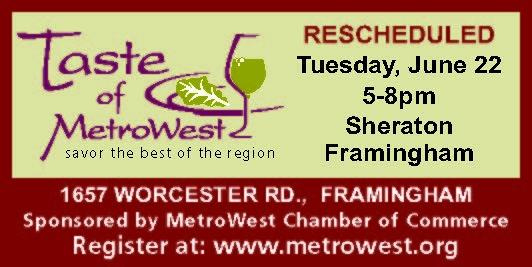 NEW DATE June 22nd - 10th Annual Taste of MetroWest - Sheraton Framingham
