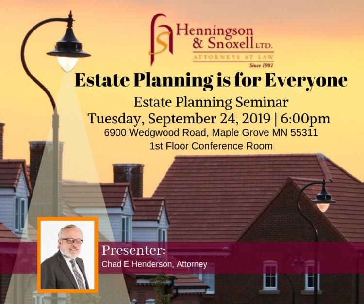 Free Seminar: Estate Planning is for Everyone