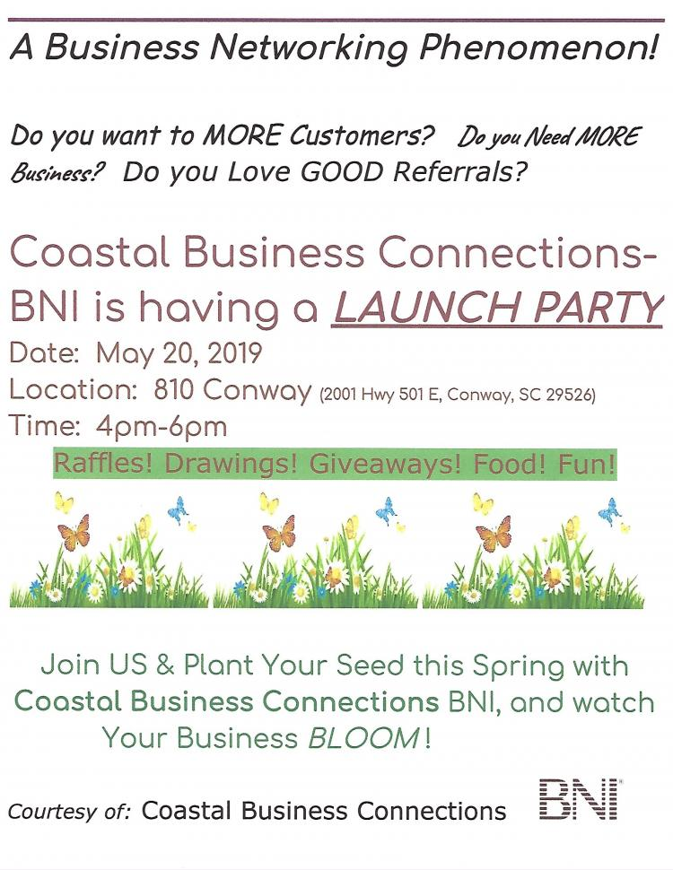 Launch Party for Coastal Business Connections BNI