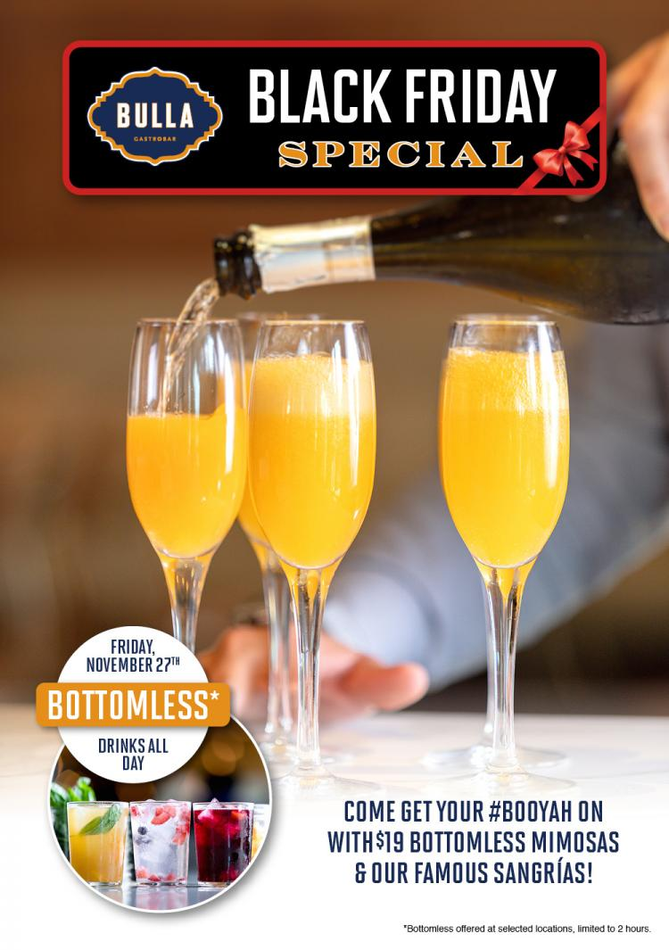 Black Friday Special Bottomless Mimosas
