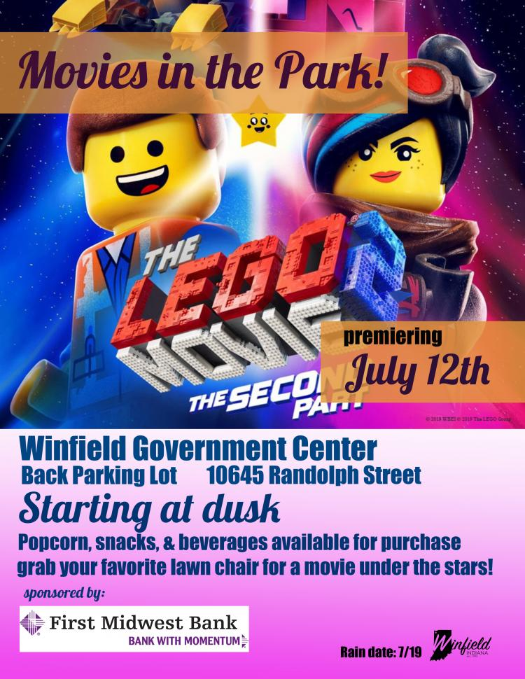 Movies in the Park Lego Movie 2