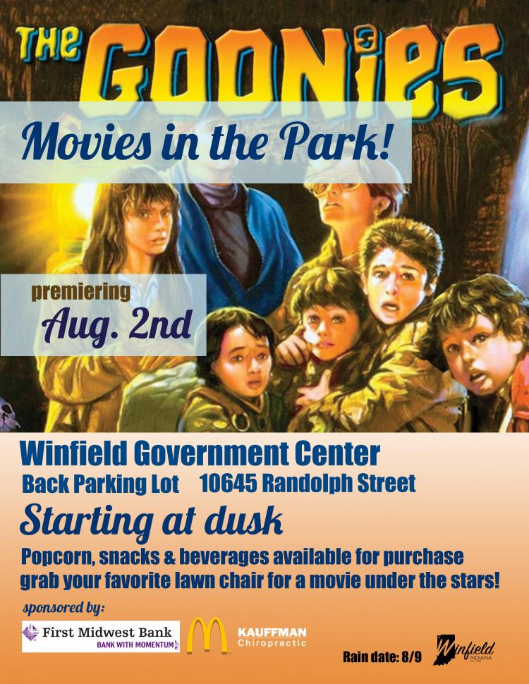 Movies in the Park The Goonies
