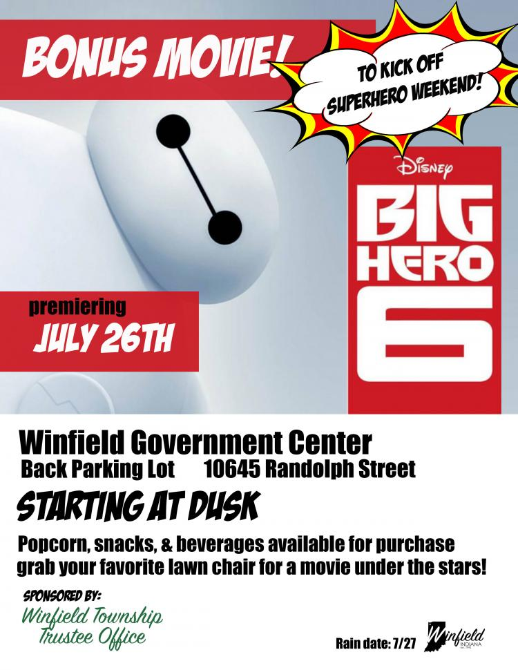 Bonus Movie in the Park Big Hero 6