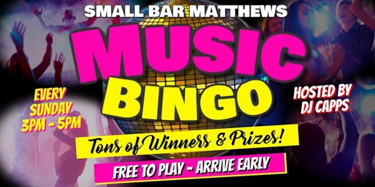 Sunday Music Bingo @ Small Bar Matthews