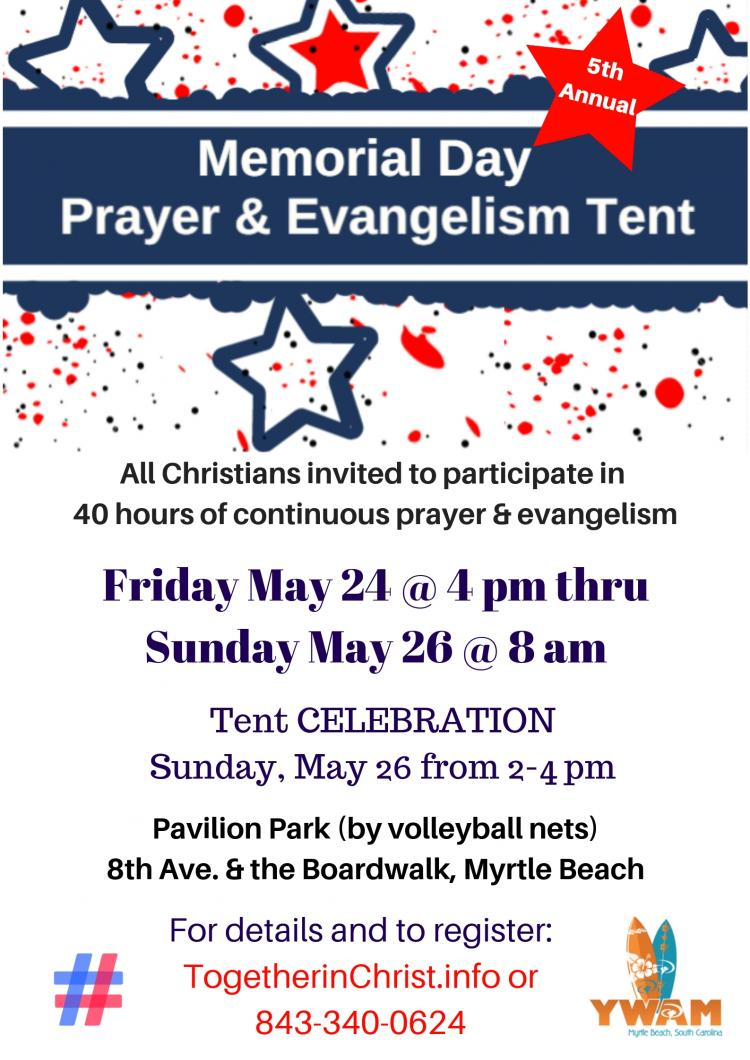 Memorial Day Prayer & Evangelism Tent