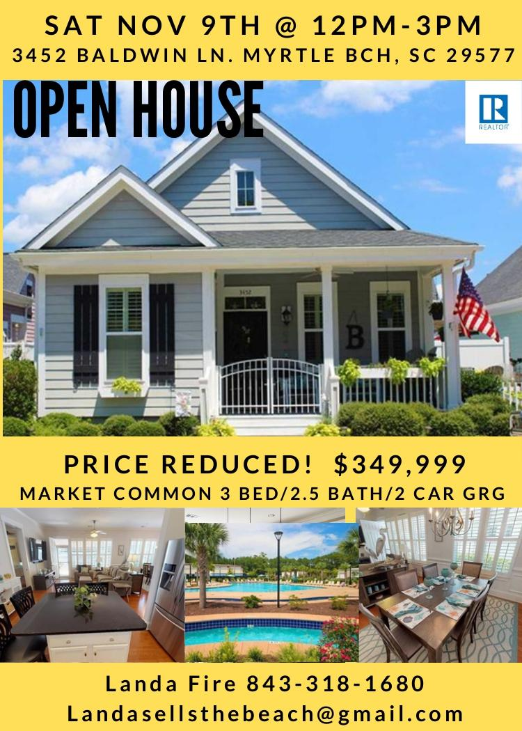 Open House 11/09/19 @ 12-3pm