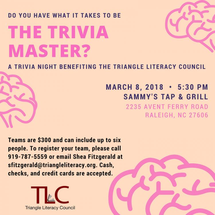 Trivia Night with the Triangle Literacy Council