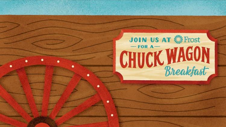 CELEBRATE THE RODEO  WITH A CHUCK WAGON BREAKFAST AT FROST BANK BLANCO