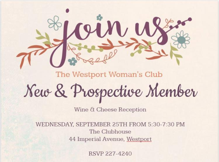 Westport Woman's Club - Join us for a New and Prospective Member Reception