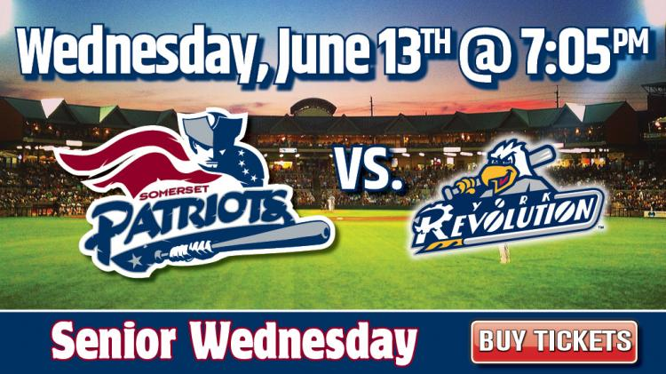 Somerset Patriots vs. York Revolution Baseball Game