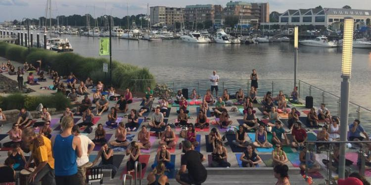 Sunset Yoga on the Boardwalk with Exhale Spa