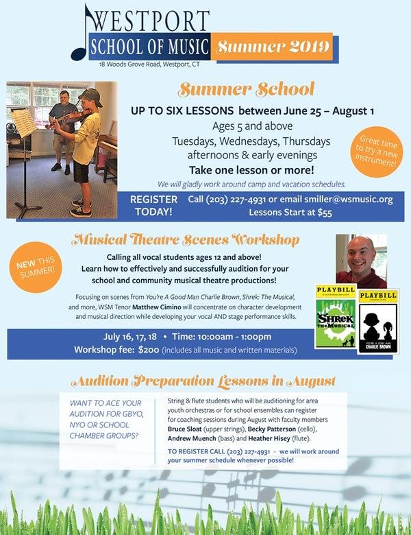 Summer School, Musical Theatre Scenes Workshop, and Audition Prep
