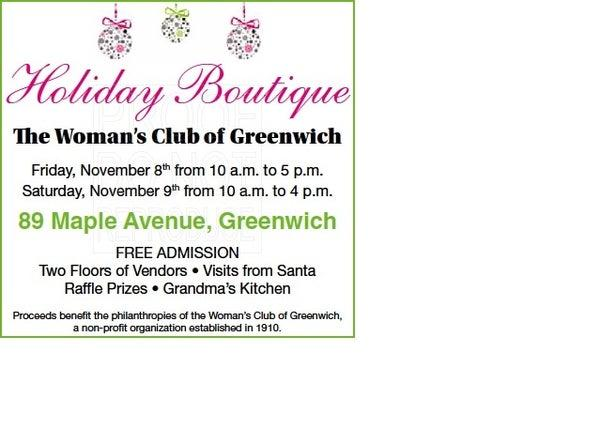Holiday Boutique at Woman's Club of Greenwich November 8 and 9