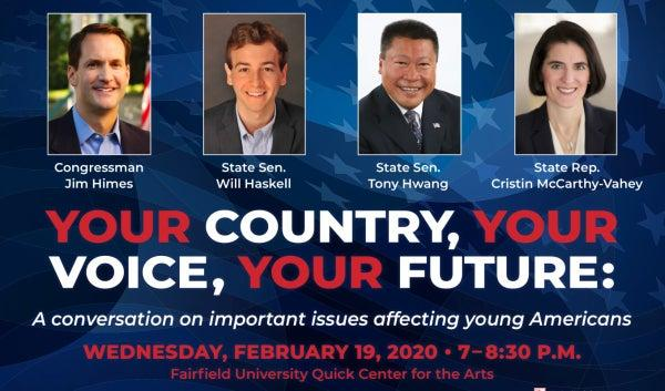 Important Issues Affecting Young Americans at Fairfield U. Feb 19