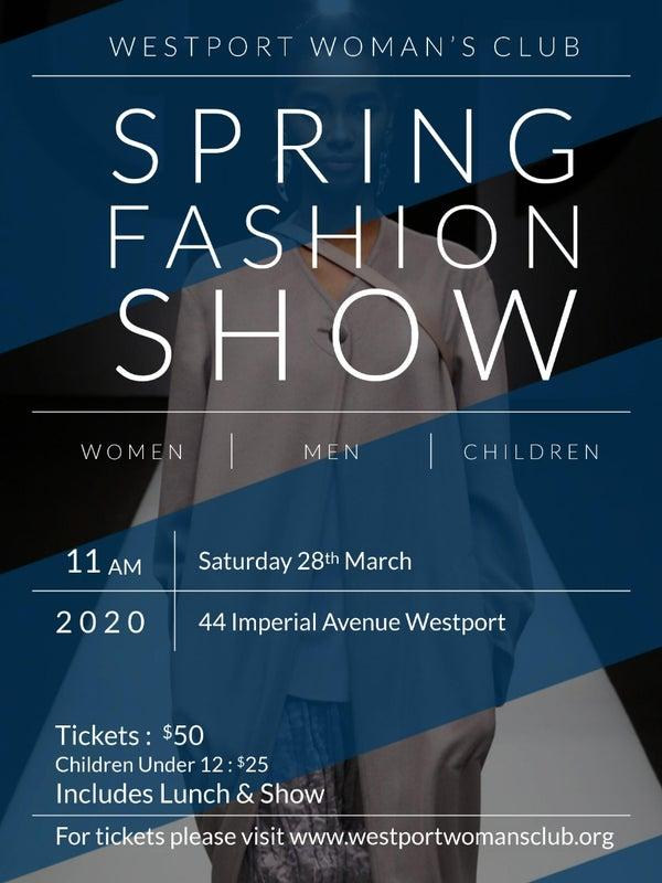 WWC SPRING FASHION SHOW - An Invitation for March 28, 2020
