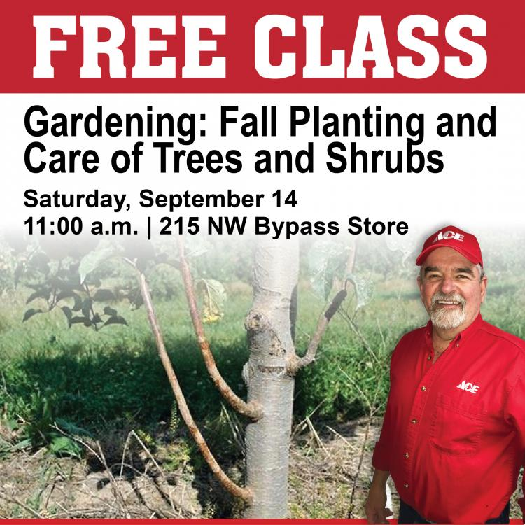 Gardening: Fall Planting and Care of Trees and Shrubs