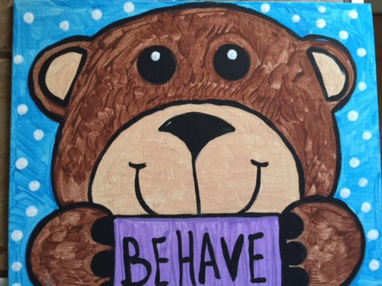 Paint Behavior Bear at Knotty Pine Farm