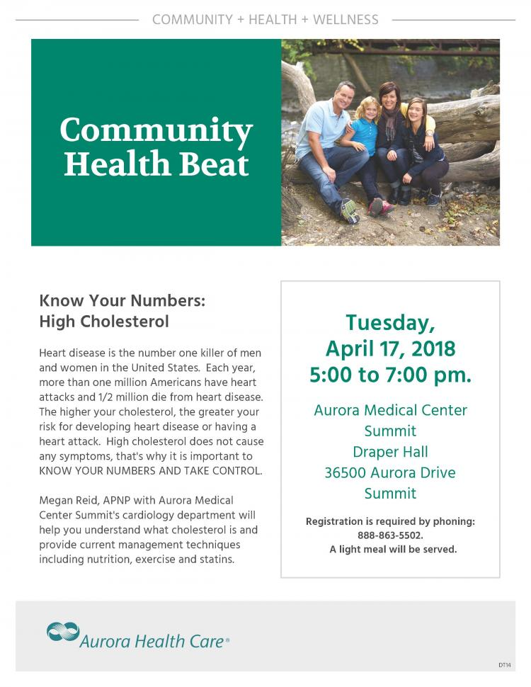 Know Your Numbers:  High Cholesterol - Summit Community Health Beat