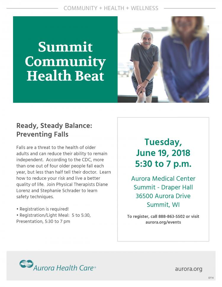 Ready, Steady, Balance:  Preventing Falls - Summit Community Health Beat