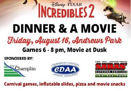 Champlin - Dinner & a Movie - Incredibles 2
