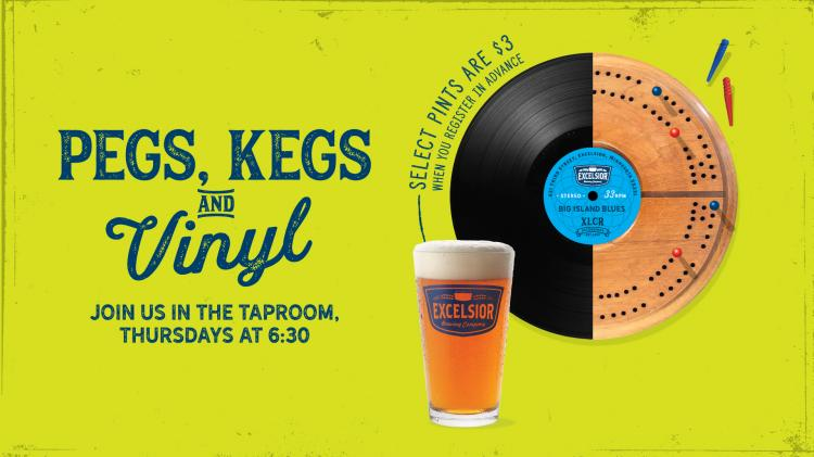 Pegs, Kegs & Vinyl Cribbage Tournament  at Excelsior Brewing